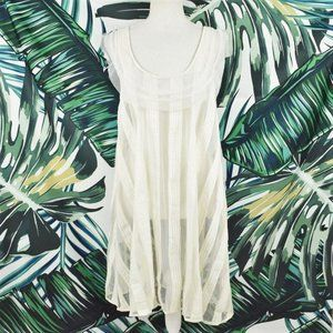 Chan Luu handmade ruffle goddess sheer dress S